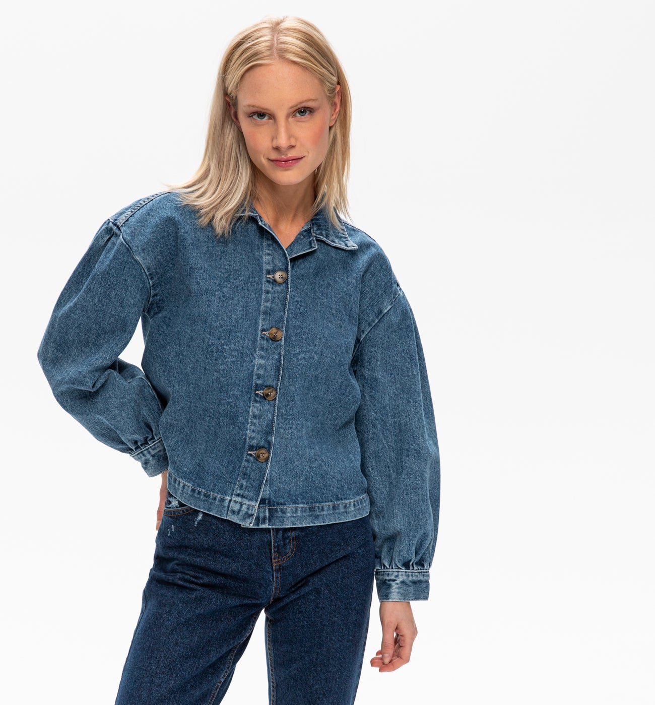 Veste en jean oversize Femme