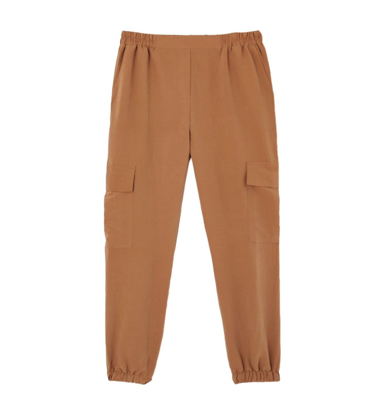 Pantalon taille haute cargo