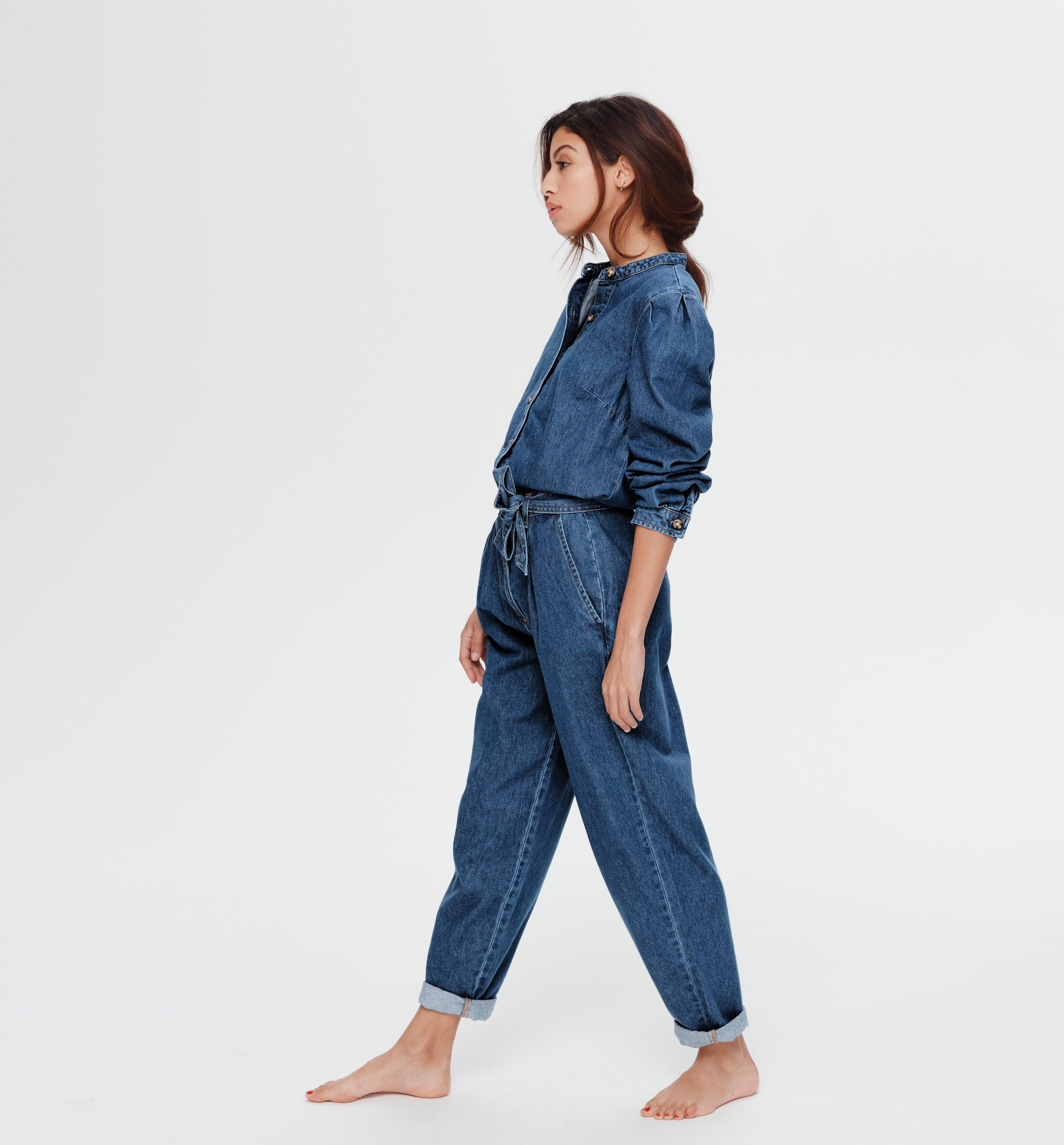 Combi-pantalon en jean Femme