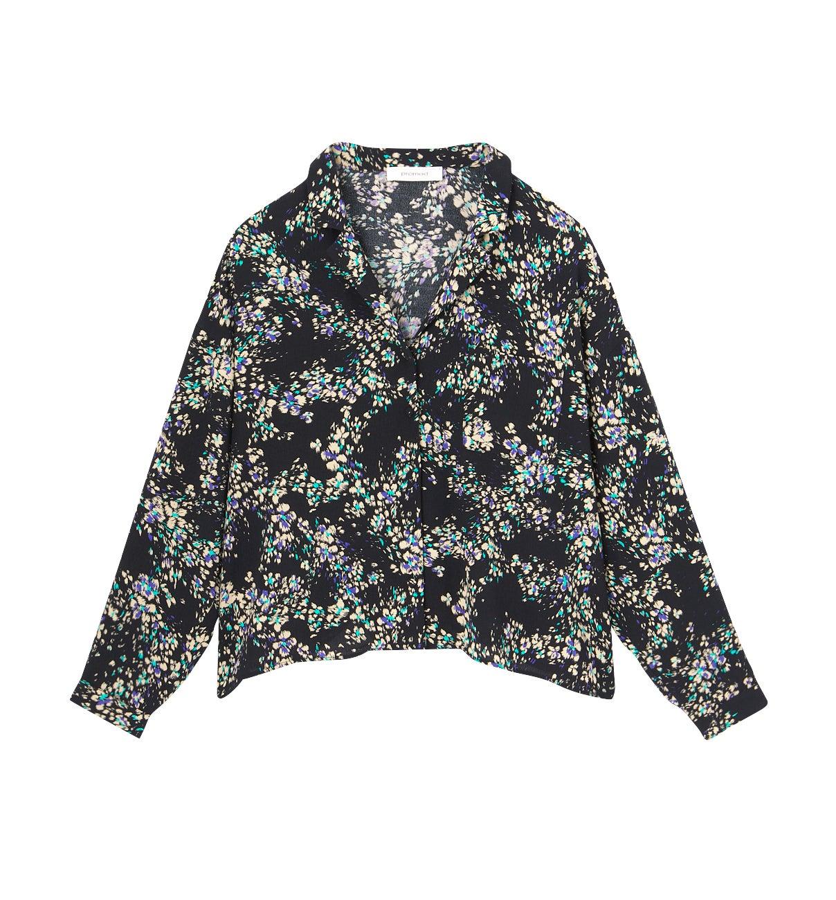 Chemise à col pyjama Femme