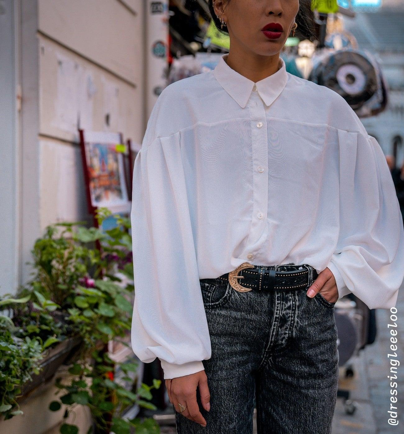 Chemise à manches ballon Femme