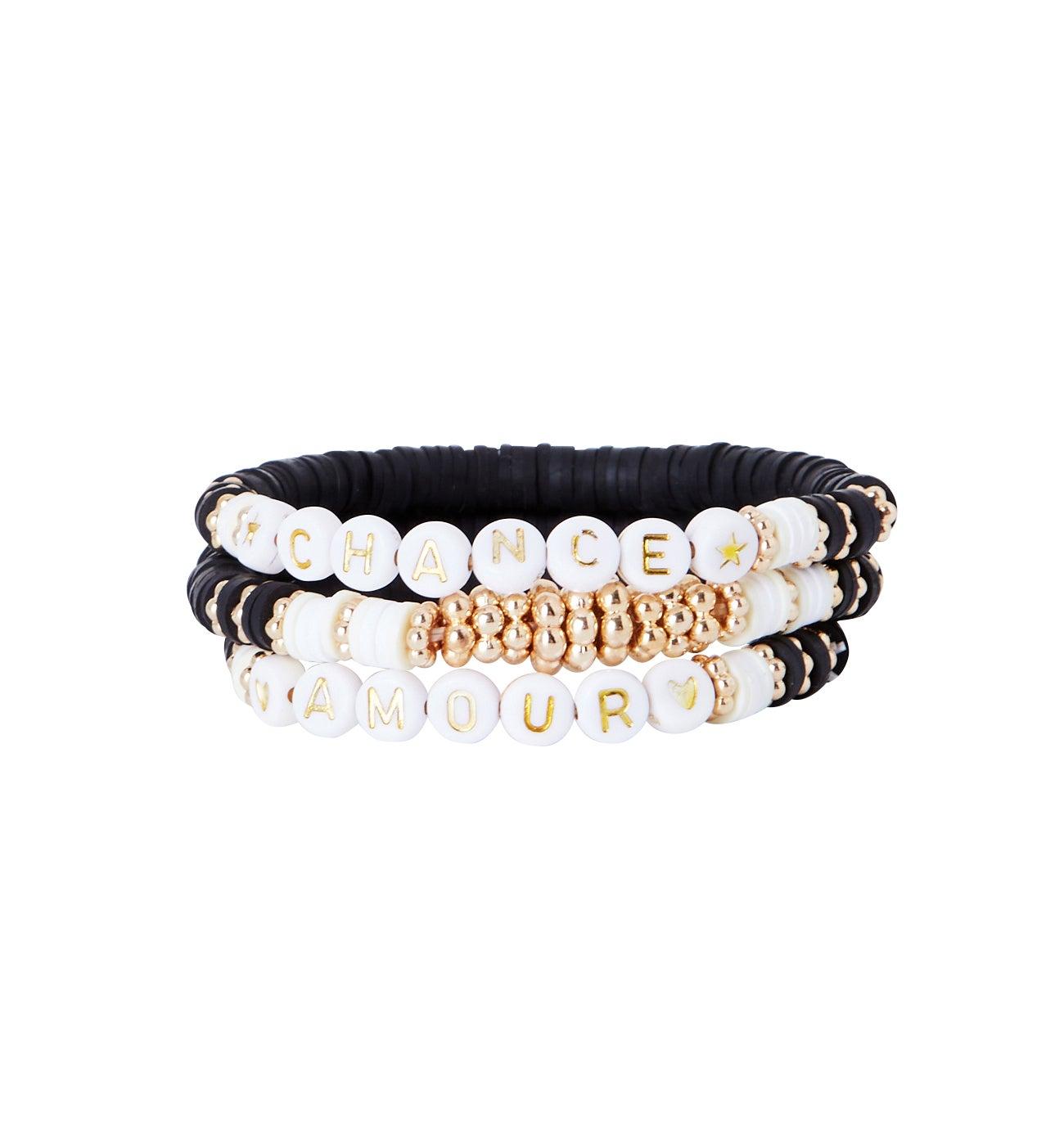 Bracelets à message (lot de 3)